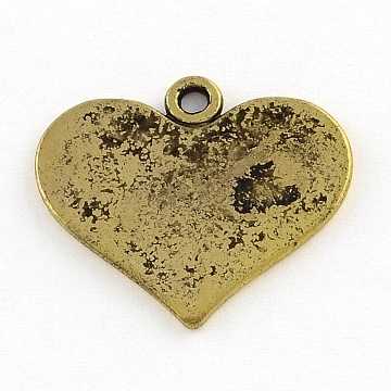 Antique Golden Heart Alloy Pendants
