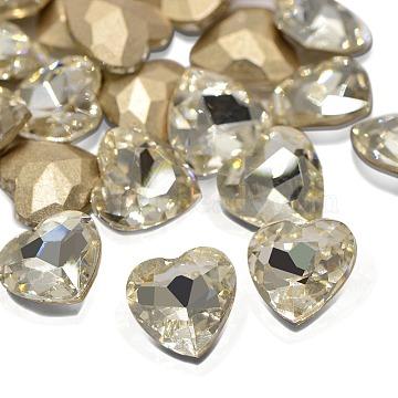 10mm Heart Glass Rhinestone Cabochons
