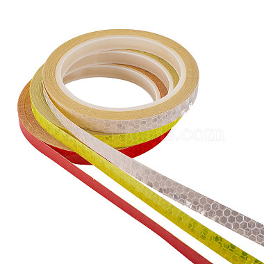 Safety Mark Reflective Tape Crystal Color Lattice Reflective Film(DIY-WH0087-A-M)-3