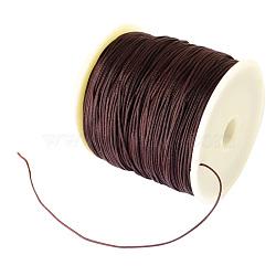 Fil de nylon tressé, coconutbrown, 0.8 mm; environ 100 mètres / rouleau (300 pieds / rouleau)(NWIR-R006-0.8mm-738)