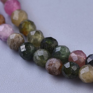 Natural Tourmaline Beaded Necklaces(NJEW-K114-A-A15)-2