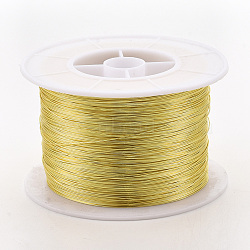 Copper Jewelry Wire, Long-Lasting Plated, Golden, 24 Gauge, 0.5mm; 300m/500g(CWIR-S003-0.5mm-02G)