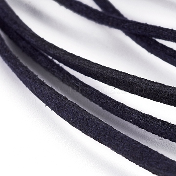 Flat Faux Suede Cord, Faux Suede Lace, Prussian Blue, 2.5x1.5mm, about 5.46 yards(5m)/strand(LW-WH0003-01G)