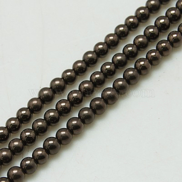 4mm Coffee Round Non-magnetic Hematite Beads