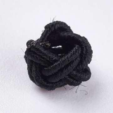 7mm Black Round Polyester Beads