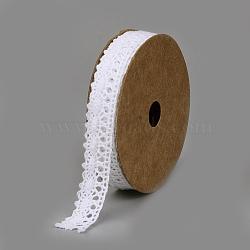 Cotton Ribbons, White, 5/8inch(16mm); about 2yards/roll(1.83m/roll)(SRIB-Q018-12B)