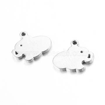 Stainless Steel Color Elephant Stainless Steel Charms