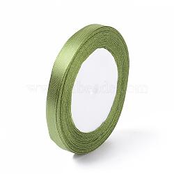"""Accessoires de vêtement 3/8"""" (10mm) ruban de satin, vert jaune, 25yards / roll (22.86m / roll)(X-RC10mmY052)"""