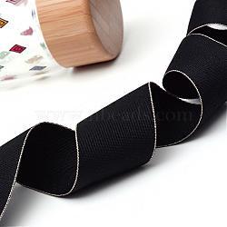 ruban polyester grosgrain, noir, 1-1 / 2 (38 mm); à propos de 100 yards / rouleau (91.44 m / roll)(OCOR-Q012-38mm-03)