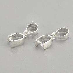 925 pendentifs en argent sterling, ice pick & bails pincée, sculpté 925, argent, 14 mm, trou: 3.5 mm; broches: 0.8 mm(STER-S002-75)