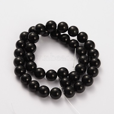 6mm Round Obsidian Beads