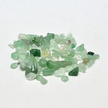 Verts perles naturelles puce aventurine, pas de trous / non percés, 2~8x2~4 mm; environ 170 pcs / 10 g(X-G-O103-02)