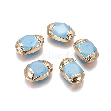 22mm Oval Synthetic Turquoise Beads