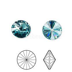 cristal autrichien cabochons de strass, passions de cristal, déjouer retour, facettes rivoli, 1122, 263 turquoise _light, 10.187~10.540 mm(X-1122-SS47-F263)