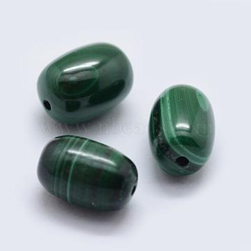 12mm Oval Malachite Beads