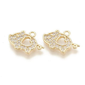 Real Gold Plated Pig Brass+Cubic Zirconia Pendants