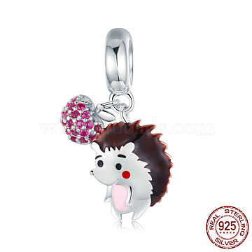 22mm Colorful Animal Sterling Silver Dangle Beads
