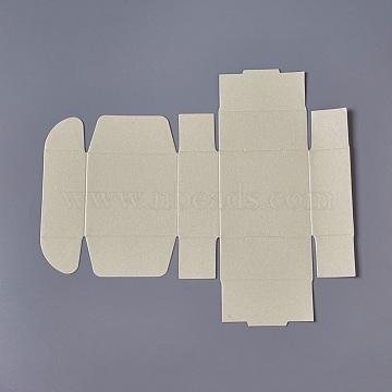 Beige Square Paper Jewelry Box