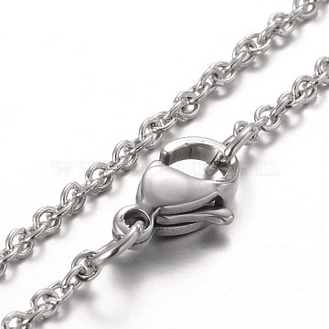 Stainless Steel Cable Chain Bracelets, with Lobster Claw Clasps, Stainless Steel Color, 7-1/4 inches(185mm)(X-BJEW-JB01930)