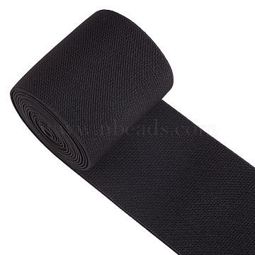 BENECREAT Flat Elastic Rubber Band, Webbing Garment Sewing Accessories, Black, 100mm(OCOR-BC0012-13)
