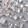 Clear AB Polygon Acrylic Beads(TACR-S156-001)