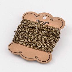 железные витые цепочки обуздать цепи, несварные, свинца и никеля бесплатно, античная бронза, 3x5x0.8 mm(CH-N003-01-FF)
