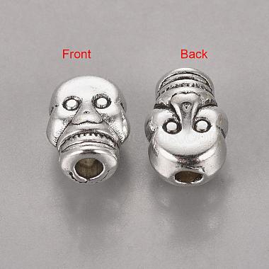 Античное серебро хэллоуин ювелирные изделия тибетского серебра сплава черепа бусы(X-AB321-NF)-1