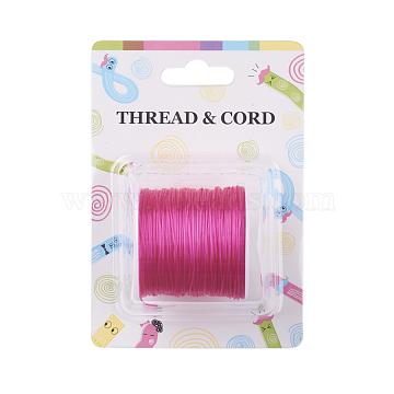 Fil de fibre élastique, rose foncé, 0.8 mm; 60 m / rouleau(X-EW-O001-01L)