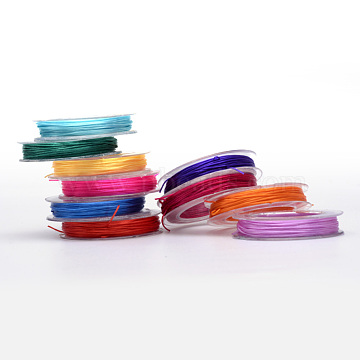 Flat Elastic Crystal String, Elastic Beading Thread, for Stretch Bracelet Making, Mixed Color, 0.5mm, about 10.93 yards(10m)/roll, 10rolls/group(EW-R005-0.5mm-M)