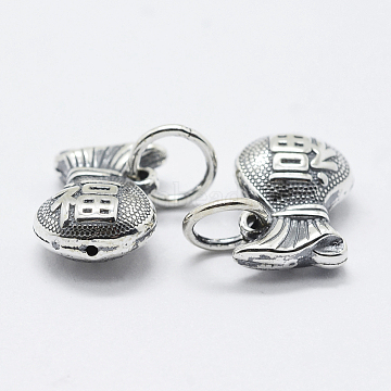 Antique Silver Bag Thai Sterling Silver Charms