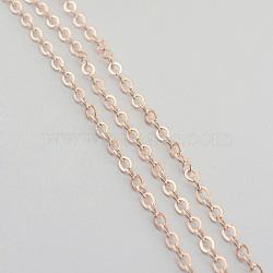 Chaînes de câble de fer, non soudée, or rose, 7x5.1x1.2mm