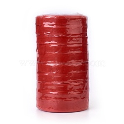 "Ruban d'organza, rouge, 5/8"" (15 mm); 50yards / roll (45.72m / roll), 10 rouleaux / groupe, 500yards / groupe (457.2m / groupe).(ORIB-15mm-Y026)"