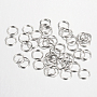 Platinum Ring Iron Close but Unsoldered Jump Rings(X-IFIN-A018-8mm-P-NF)