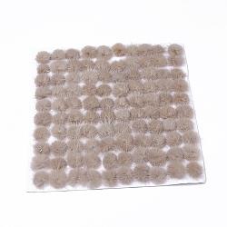 Décoration de boule de fourrure de vison faux, boule de pom pom, pour bricolage, tan, 2.5~3 cm(X-FIND-S267-3cm-10)