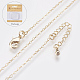 Long-Lasting Plated Brass Cable Chains Necklaces(X-NJEW-K112-02G-NF)-1