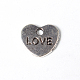 Antique Silver Metal Alloy Love Heart Charms for Valentine's Day(X-PALLOY-AD-77142-AS)-1