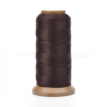 Polyester Threads, for Jewelry Making, Coffee, 0.12mm, about 1640.41 yards(1500m)/roll(NWIR-G018-A-16)