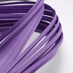 Bandes de papier quilling, blueviolet, 390x3mm; à propos 120strips / sac(X-DIY-J001-3mm-B06)