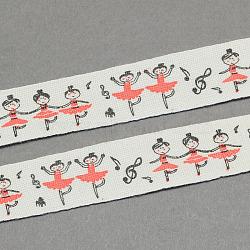 """Filles de ballet de ruban de coton imprimé, tomate, 5/8"""" (15 mm); environ 20yards / rouleau (18.28m / rouleau)(OCOR-S026-11)"""