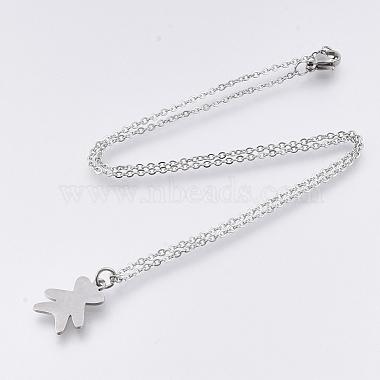 201 Stainless Steel Pendant Necklaces(NJEW-T009-JN124-40-1)-2