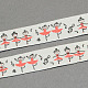 Ballet Girls Printed Cotton Ribbon(OCOR-S026-11)-1