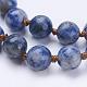 Natural Blue Spot Jasper Beaded Necklaces(NJEW-P202-36-A35)-2
