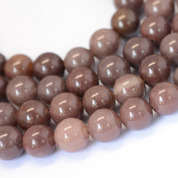 Natural Purple Aventurine Round Bead Strands, 8~8.5mm, Hole: 1mm; about 47pcs/strand, 15.5inches(X-G-E334-8mm-21)