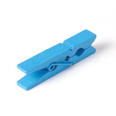 Natural Wooden Craft Pegs Clips(X-WOOD-E010-02A)-3