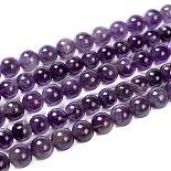 8mm Purple Round Amethyst Beads(GSR062)