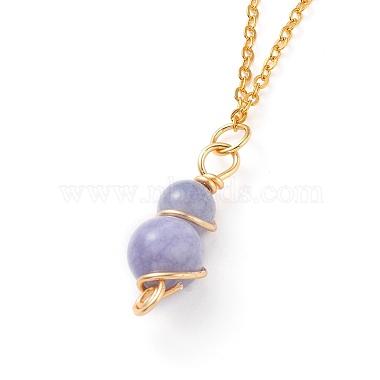 Natural Quartz Pendant Necklaces(NJEW-JN02599-05)-2