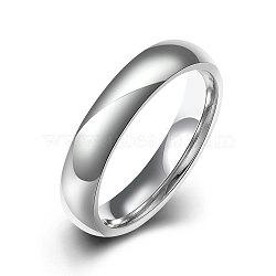 Модные 316л титана стали кольца перста для женщин, цвет нержавеющей стали, Размер 8, 18.1 мм(RJEW-BB07173-8)
