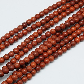 6mm SaddleBrown Round Synthetic Turquoise Beads
