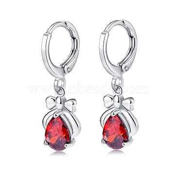 Red Stainless Steel Earrings