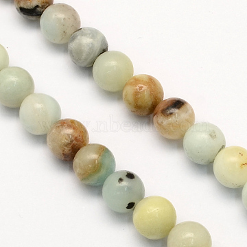 Natural Amazonite Round Beads Strands, Amazonite, 4.5mm, Hole: 1mm; about 96pcs/strand, 15.5 inches(X-G-S161-4mm)